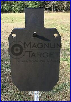 12x20 IDPA/ISPC Steel Shooting Target 3/8 AR500 Range Target with T-Post Hook