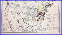 1844 United States Map Texas Republic Stove Pipe North West Territory ORIGINAL