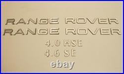 1995 2002 Range Rover P38 3D Letters, Badge
