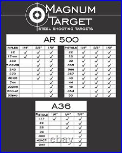 1/2 AR500 Combatant Silhouette 12 x 20 Steel Shooting Range Gong Metal Target