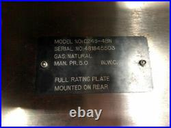 24 Gas Range 4 Open Burner & Oven Base Wolf C24S-4BN #2999 Commercial Stove NSF