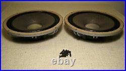 2 Vintage Jbl D123 12 Drivers Alnico Speaker Xclnt C38 C36 Lancer Full Range