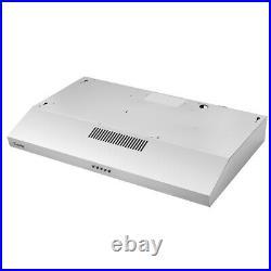 30 Inch Kitchen Range Hood Stainless Steel Glass Panel Kitchen Ventilation NEW