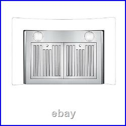 30 Inch Kitchen Wall-Mounted Range Hood 700CFM Touch Glass Panel Three Speed New