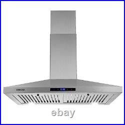 30 Inch Wall Mount Kitchen Hood 350 CFM Range Hood Stove Vented Hood Exhaust Fan