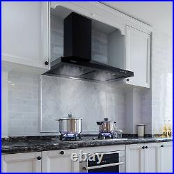 30 Range Hood Wall Mount Stainless Steel Kitchen Exhaust Vent 350 CFM LED Light