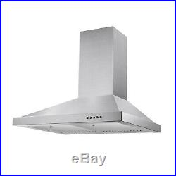 30 in Stainless Steel Wall Mount Range Hood Kitchen Cooking 350 CFM Vent LEDlamp