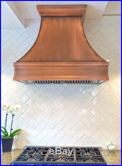 36 Berenice Copper Range Hood-Made in U. S. A