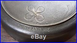 4 Leaf Clover Portland Stove # 8 Cast Iron Skillet Vtg Maine USA