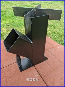 4 Rocket Stove Rear Draft Gravity Fed Removable Top Free Shipping! USA Made