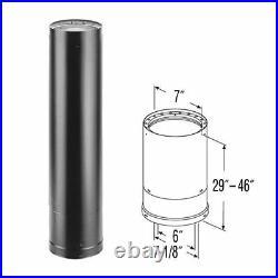 6'' DVL 29'' 46'' Double-Wall Telescoping Black Stove Pipe 6DVL-46TA
