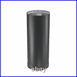 6'' x 48'' DVL Double-Wall Black Stove Pipe 6DVL-48