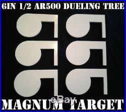 6in. 1/2in. AR500 Steel Shooting Range Targets Dueling Trees Metal Paddles