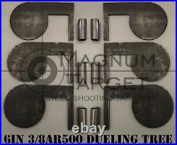 6in. 3/8in. AR500 Steel Shooting Range Targets Metal Dueling Trees withtubes