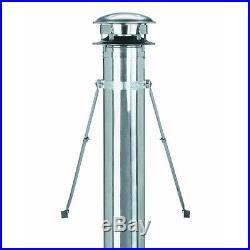 8 Galv SSII Chimney Flue Stove Heat Pipe Roof Brace Kit 8T-RBK