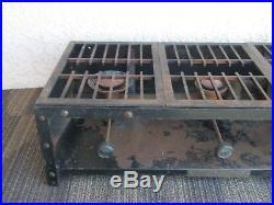 975a Coleman Instant Gas 3 Burner Stove Antique Vintage Camp Cabin Outdoor Cook