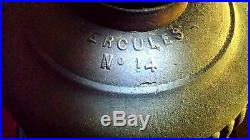 Antique 1865 Hercules No. 14 Pot Belly Stove In Working Condition Excellent