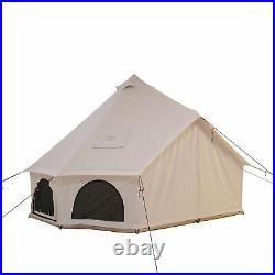 AVALON Canvas Bell Tent 4M Waterproof withStove Jack Glamping Camping Outdoor Tent