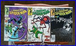 Amazing Spider-Man HUGE LOT (24 Comics) #246-297 range with KEYS Black Suit 1980s