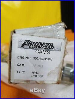 Anderson Ford Motorsport N-41 Hydraulic Roller Camshaft 2700-6500 Range 302 HO
