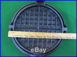 Antique 1800's Cast Iron 8&9 Flip Flop Waffle Iron for Wood Stove Range Top