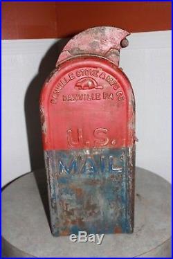 Antique 1924 Cast Iron U. S. Mail Box Danville Stove MFG Letters Post Office