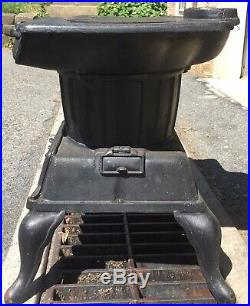 Antique 2 Burner Cooking Wood Stove No 66 Cast Iron Kitchen Number
