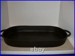 Antique BSR/Birmingham Stove Range 3052D Cast Iron Oval Shallow Fish Fryer EUC