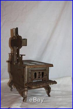 Antique Cast Iron Salesman Sample Eagle Cast Iron Stove Bread Warmer Shelves