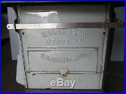 Antique Kalamazoo Emperor Stove Enamel Iron -wood / Coal