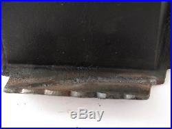 Antique Sad Iron's (5) with Stove Heating Iron Holder and Lifter Rare