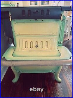 Antique/Vintage 1906 Green Enamel Glenwood K Gas Stove By The Weir Stove Company