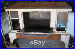 Antique XL Kitchen Coal Enamel Wood Stove