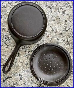 BSR Birmingham Stove Range Cast Iron Red Mountain 2 Quart Sauce Pot Pan Skillet