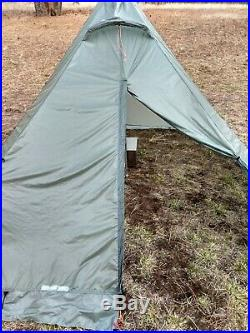 BearPaw Wilderness Designs Luna 6 Silnylon Hot Tent Tipi 10x10 Stove Jack