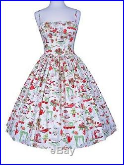 Bernie Dexter Paris In The Kitchen Print Dress Retro Inspired Stove Cherry pot