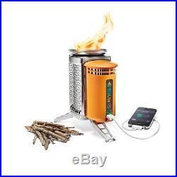 BioLite CampStove Portable Wood-Burning Stove & Power Generator Camping/Survival