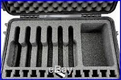 Black Pelican 1510 6 pistol handgun foam custom gun Travel Range case +nameplate