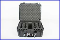 Black Seahorse 4 Handgun / Pistol range case with foam & Pelican 1450 lock