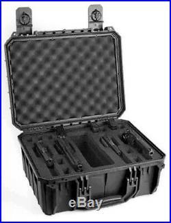Black Seahorse SE630FP4 (SE630 / 630) 4 Handgun / Pistol range case with foam
