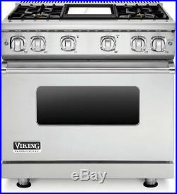 Brand New! Viking Professional 7 Series VGR73614GSS 36 Gas Range