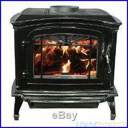 Breckwell SWC21B Black Porcelain Enameled Wood Stove