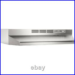 Broan 30 Capable Non-Ducted Under-Cabinet Range Hood in Stainless Steel 41300
