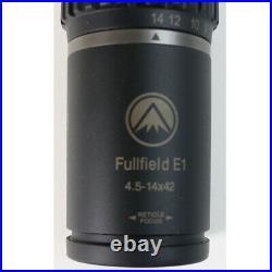 Burris Fullfield E1 4.5-14x42mm Scope 1 Tube Long Range MOA Original Box 200344