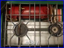 COLEMAN 426D Triple/3 Burner Camp Stove EXCELLENT CONDITION Vintage withBox