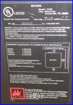CORN STOVE Adjustable BTU 8,000 30,000 BTU's Direct Vent with Vent Pipe