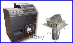CORN STOVE Adjustable BTU Up to 72,000 BTU's Direct Vent with Vent Pipe