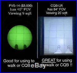 CQB Night Vision Scope UNIQUE 84° FOV 940nm iR. PLUS long Range IR Flashlight