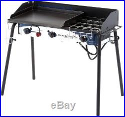 Camp Chef Portable Propane Gas Grill 3-Burner Stove Flat-Top Griddle Steel