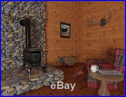 Cast Iron Logwood Stove Pot Belly Cooktop Surface Wood Burn Camp Garage Rustic
